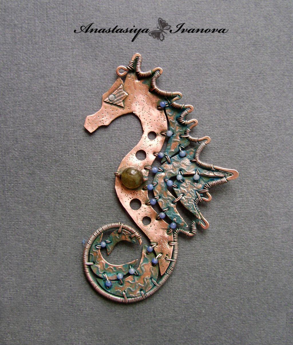 seahorse by nastya-iv83 on DeviantArt | Wire wrap by Anastasia ...