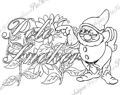 Coloring Page Ple Smker From Sweary Colouring Free Adult