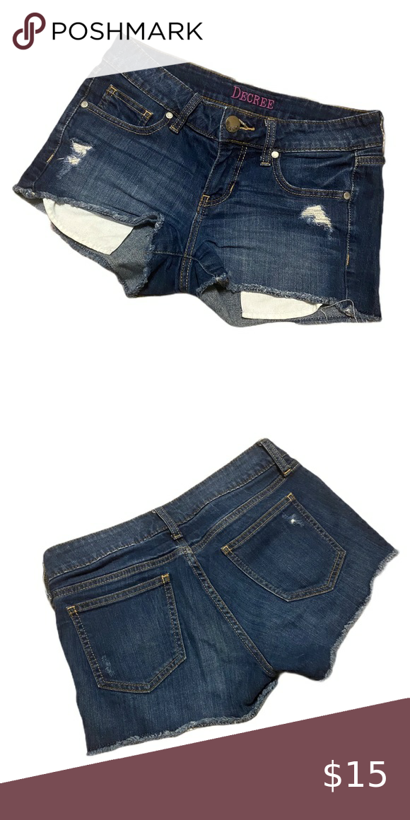 Decree denim jean shorts 7