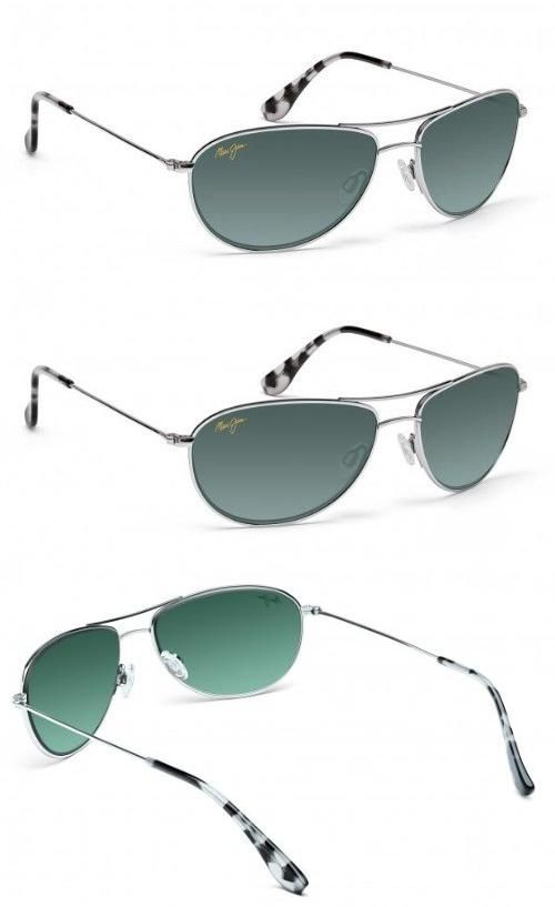 0eede352bc95 Maui Jim Baby Beach GS245-17 Polarized Aviator Sunglasses