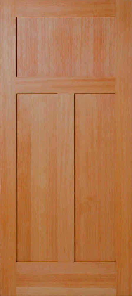 Vertical Grain Douglas Fir Mission 3-panel Interior Wood Door & Vertical Grain Douglas Fir Mission 3-panel Interior Wood Door ...