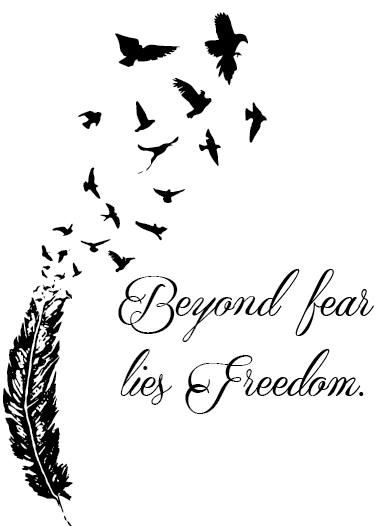 Citaten Love Bird : Quote about freedom beyond fear lies tattoo