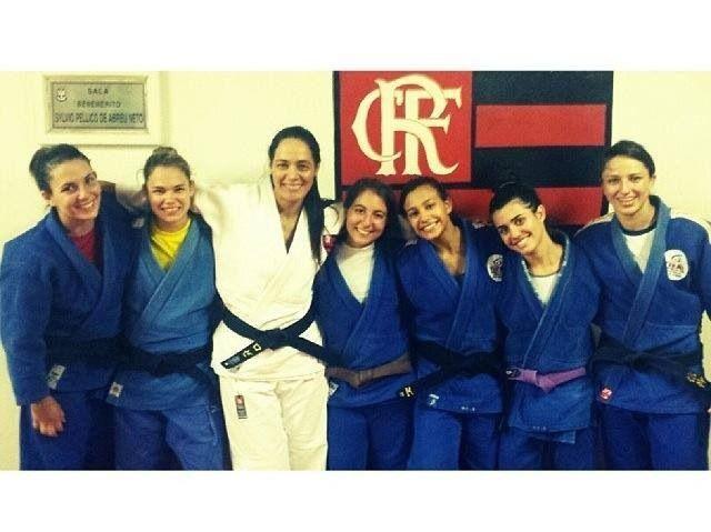As meninas do #FlaJudo treinando para a temporada 2014.