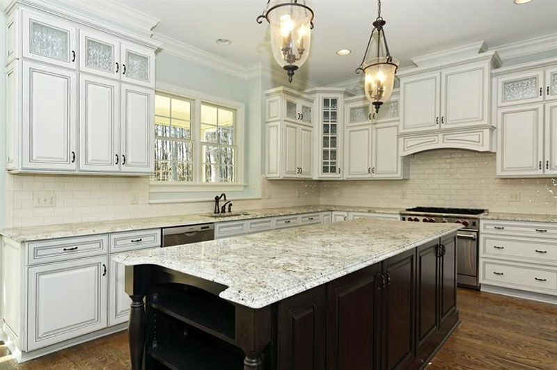 Bianco Romano Granite Countertops Pictures Cost Pros Cons Eclectic Kitchen Kitchen Remodel Kitchen Decor