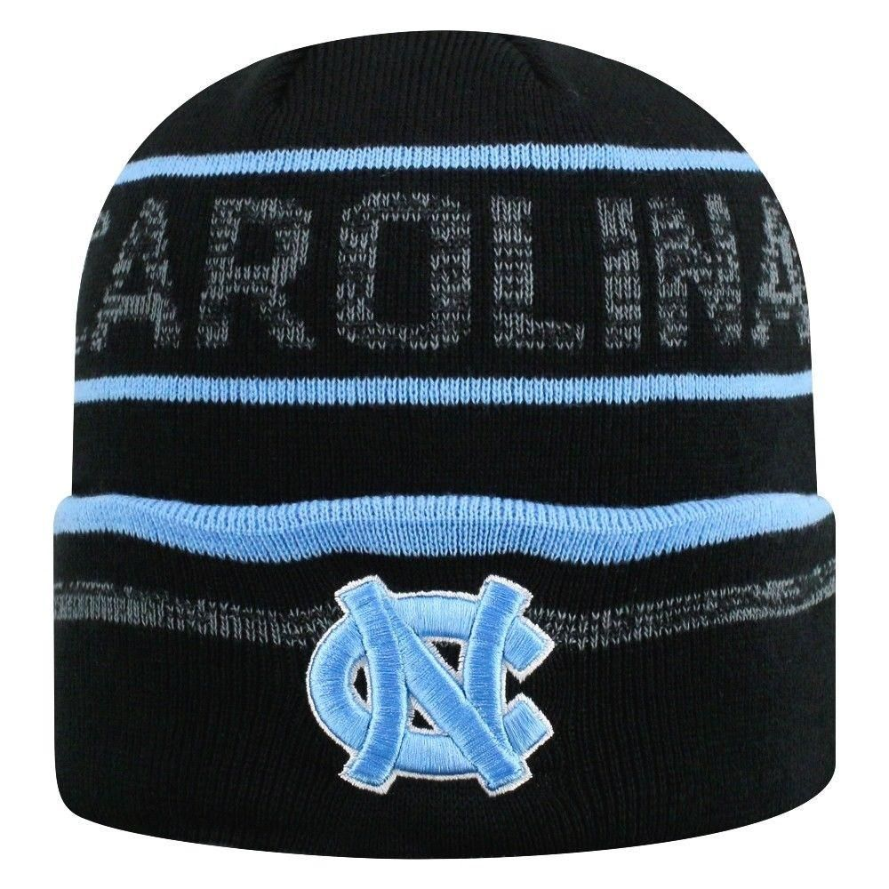 premium selection 91fa6 594b7 North Carolina Tar Heels NCAA Top of the World Effect Cuffed Black Knit Hat