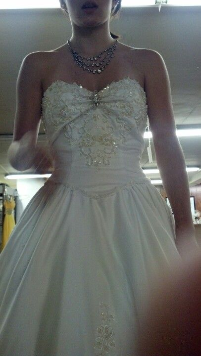 My wedding dress 24 days n counting down thrift store find revamped :)
