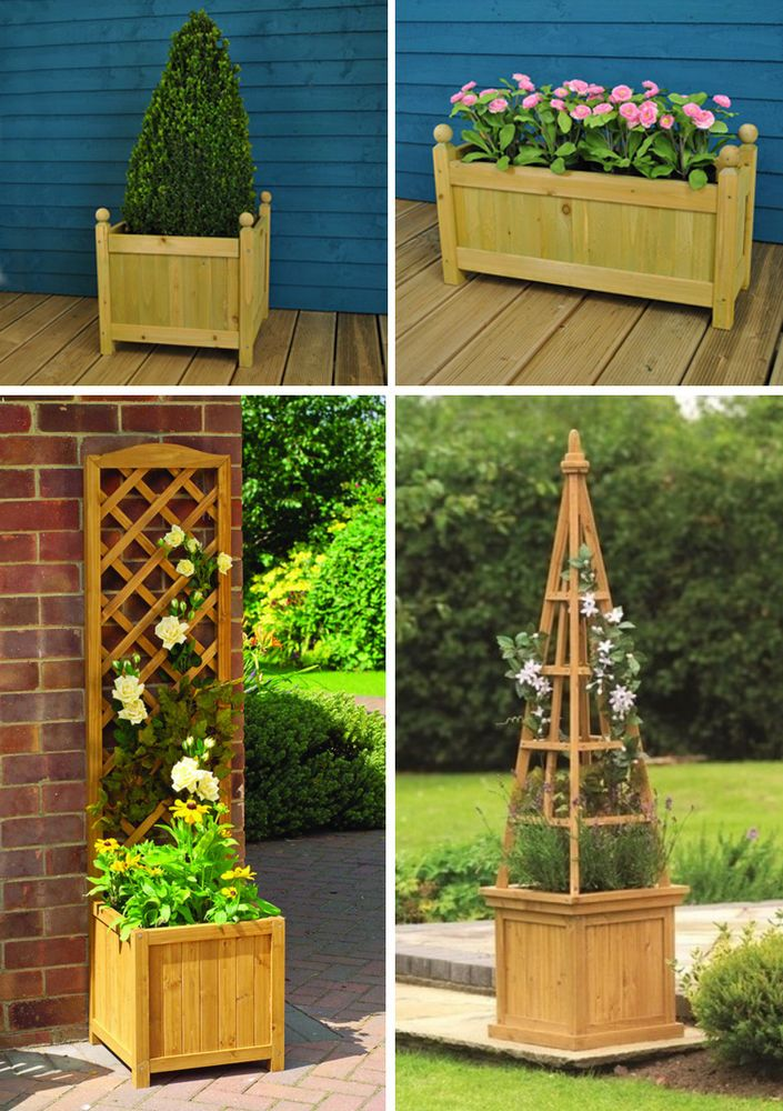 large homebase planter painted com planters trough wooden for garden range
