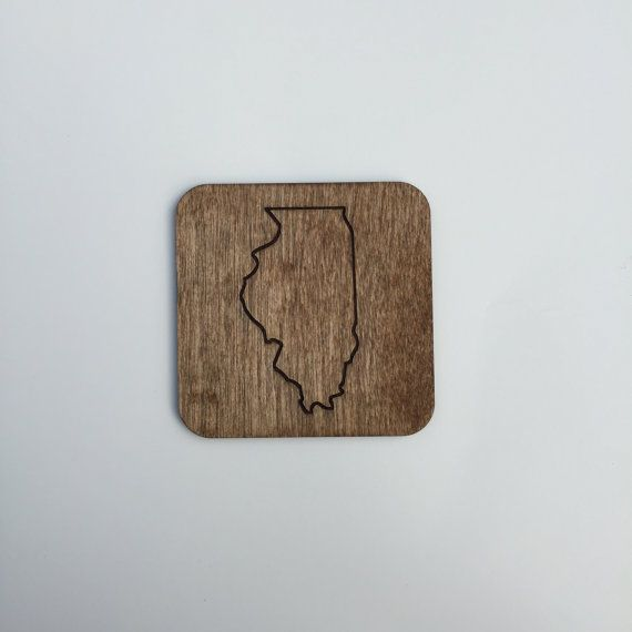 Laser Engraved State Coasters by AgainstTheGrainCo on Etsy Rep your state with these coasters!