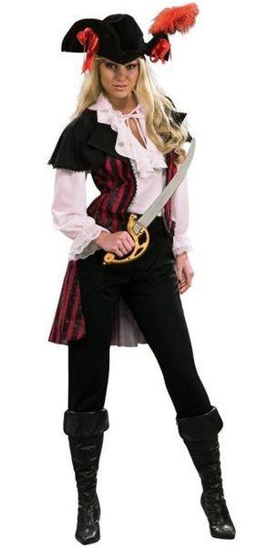 Merirosvotar Deluxe asu standardikokoisena. Upea piraatti asu, eikä kyseessä ole mikään kopio. #naamiaismaailma