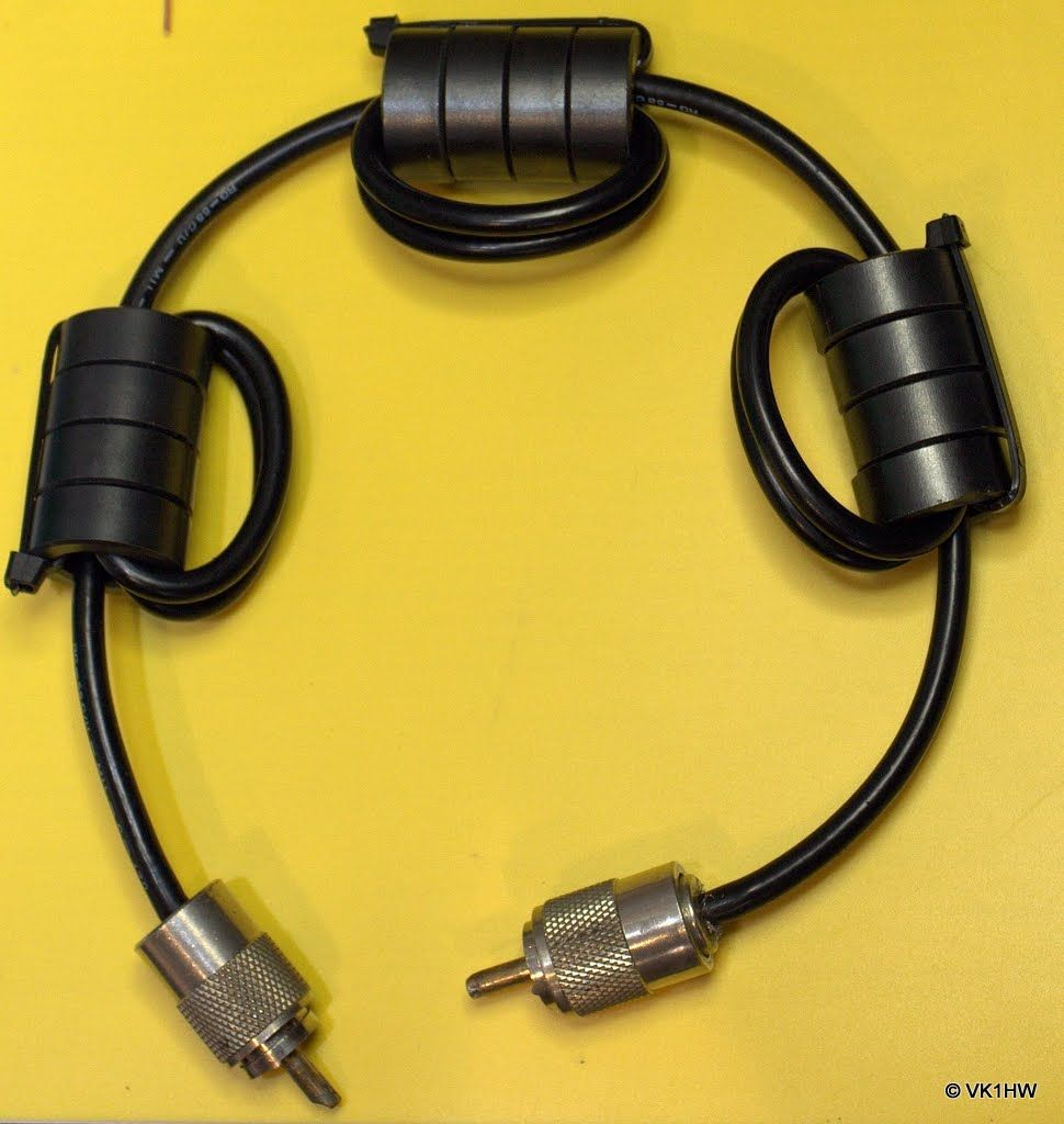 Common Mode Choke - VK1HW | Projects to Try | Ham radio antenna, Ham