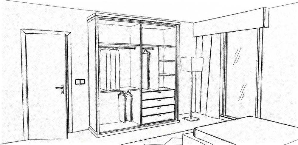 Efecto Dibujo Del Interior Diseno De Armario Disenos De Unas Interiores