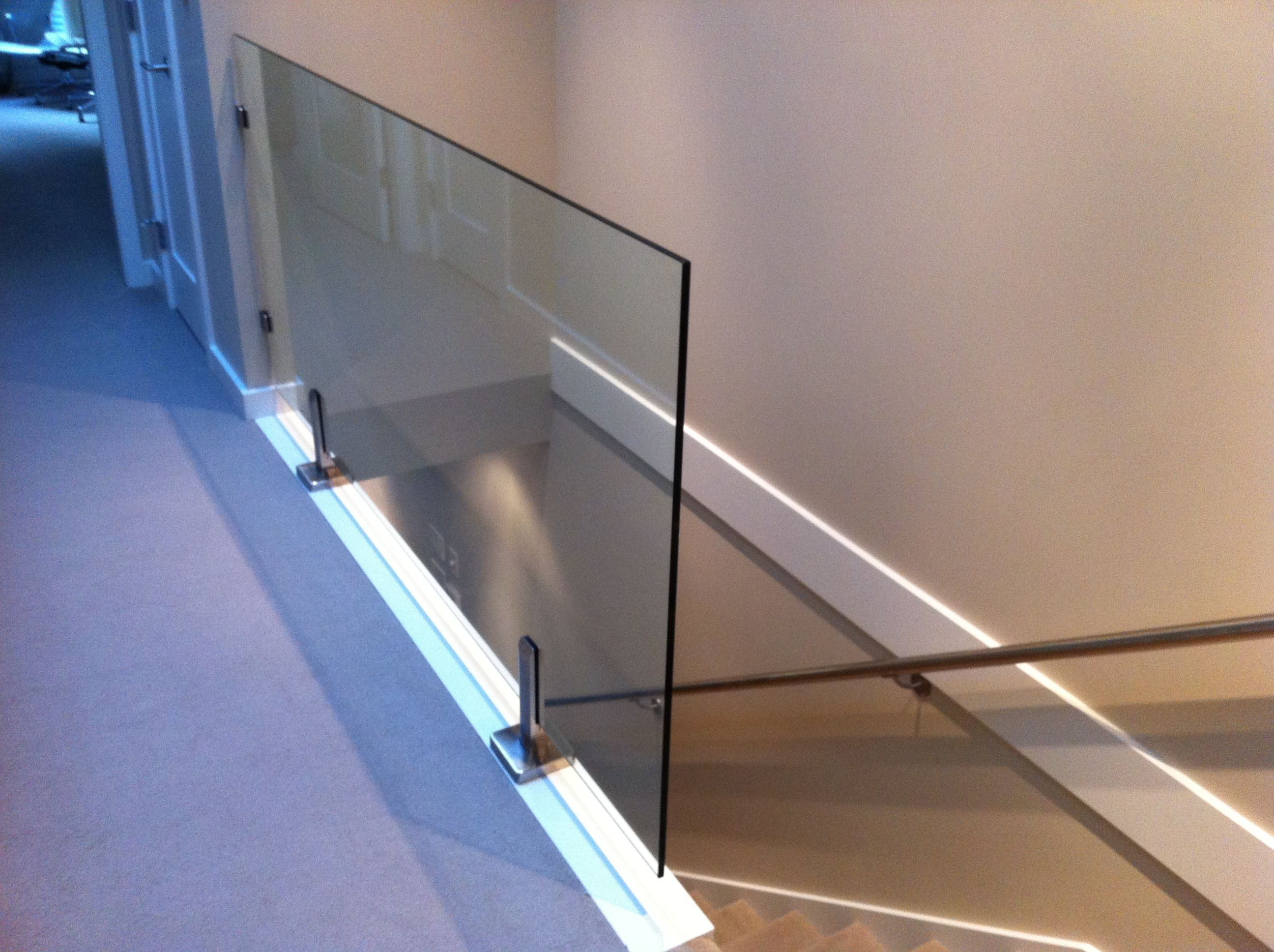 Glass Railings Super Interior Railing With All Clamps Home