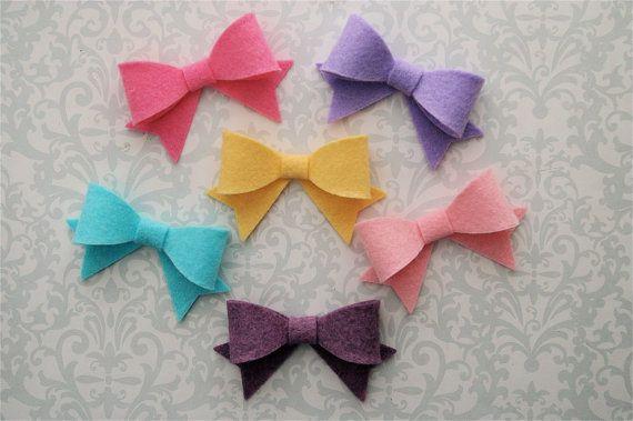 Hair Bows Felt Bow Headband Hair Clip Baby Bow Headband Dainty Bow Choose Your Color Newborn Bow, Baby Headband Baby Hair Bows