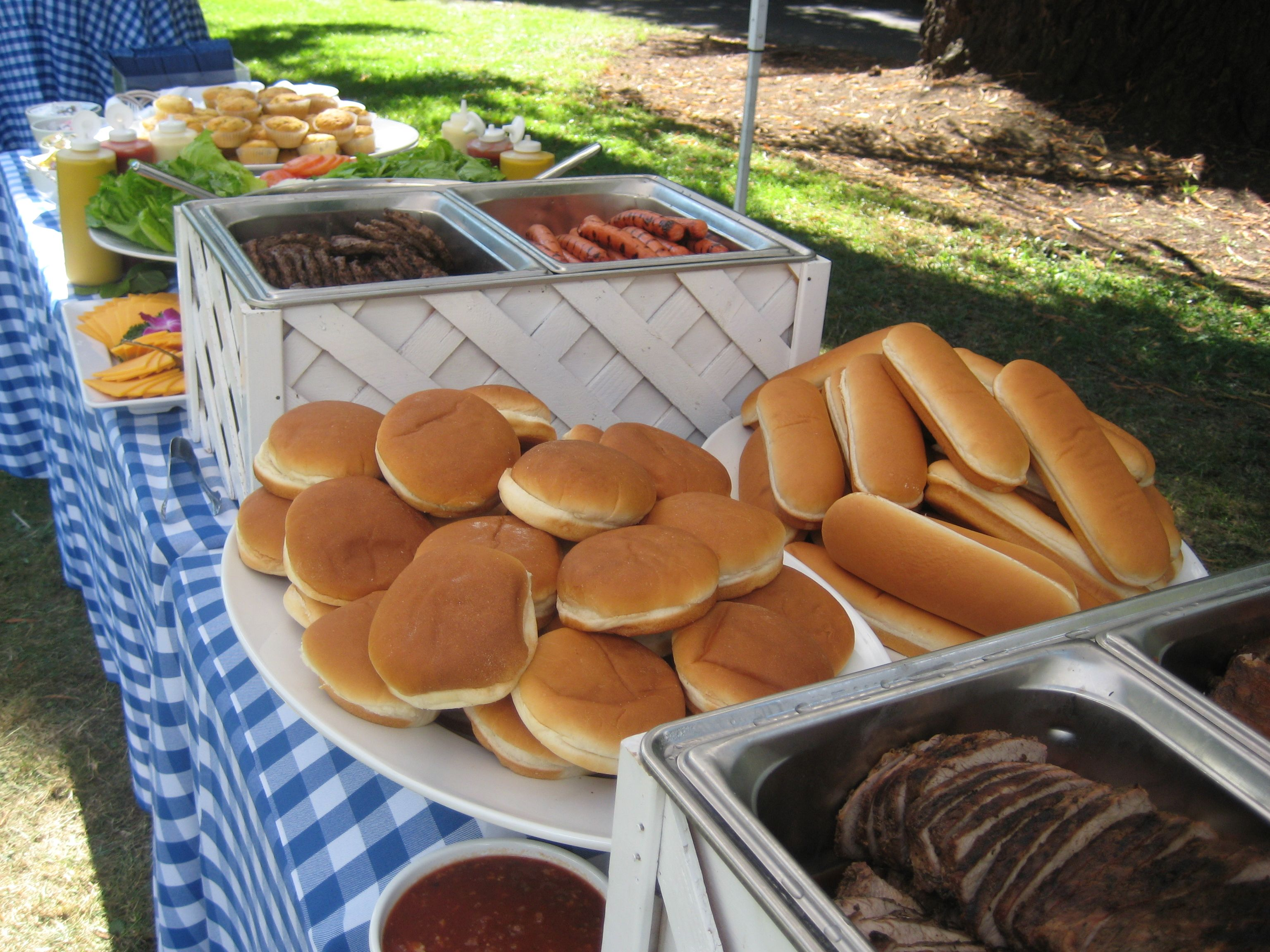 Burgers And Hot Dogs This Is Our White Buffet Equipment