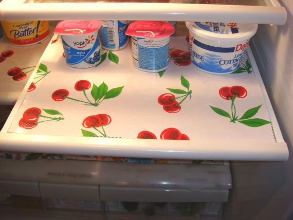 Fridge Shelf Liners Pleasing Custom Oilcloth Reversible Refrigerator Shelf Liners  Shelf Liners Decorating Inspiration