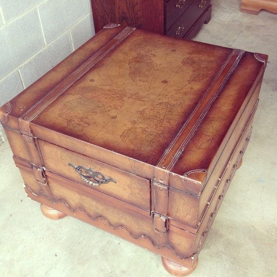 Old World Map Trunk Coffee Table Home design ideas