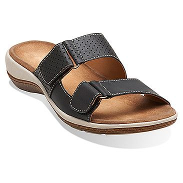 Womens Sandals Clarks Taline Trim Black Leather