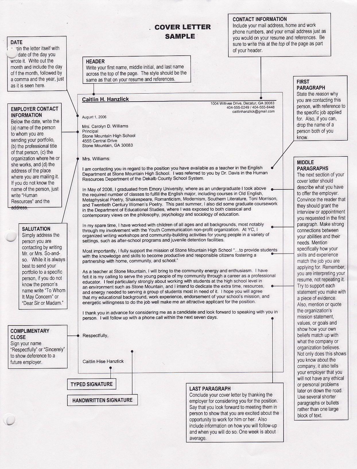 Basic Cover Letter Free Sample Federal Resume