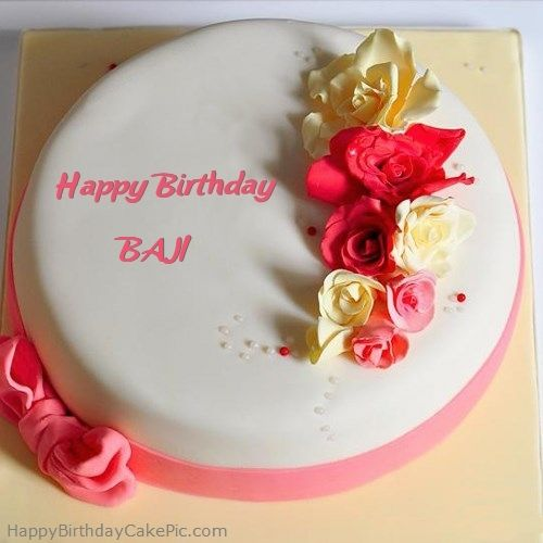 Roses Happy Birthday Cake For BAJI 500x500