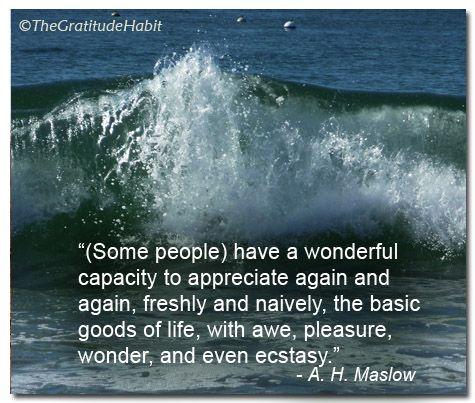 Gratitude Quote: Maslow | Gratitude quotes, Quotes ...