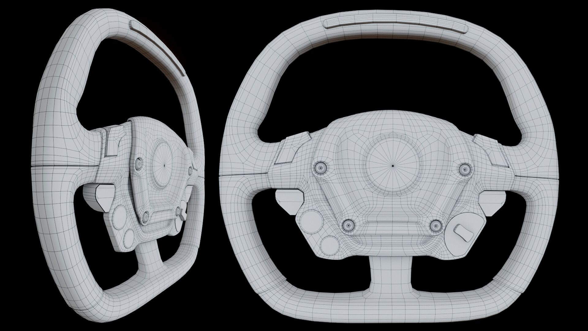 Ferrari FXX K || Steering Wheel by Gabriel PajaresMid-poly game-ready asset.  Rendered in EEVEE. #ferrarifxx