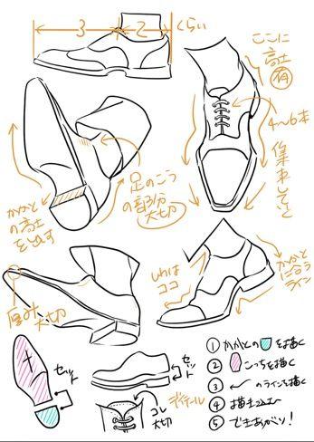 黒井コロ 靴の描き方2