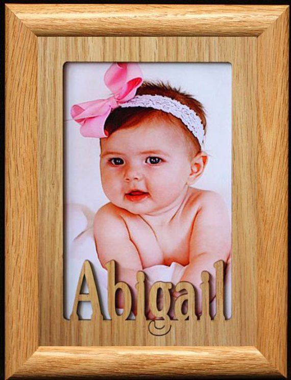 Personalized Photo Name Frame Laser Cut Holds A 4x6 Or Cropped 5x7