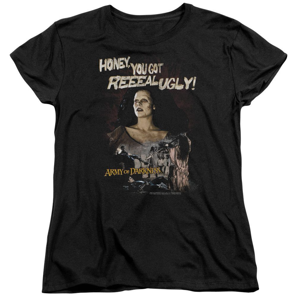 Mgmarmy of darknessreeeal ugly ss womenus tee black