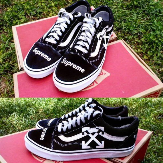 3bd8a5445b0 Custom vans old skool,supreme,off white ,custom sneakers , custom ...