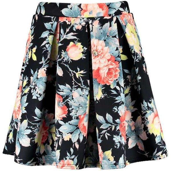 Floral Circle Midi Skirt White
