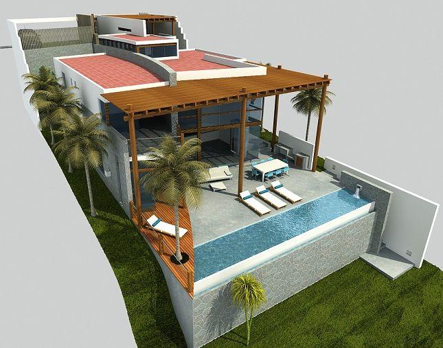 Casas desnivel buscar con google ramp houses house - Terreno con casa ...