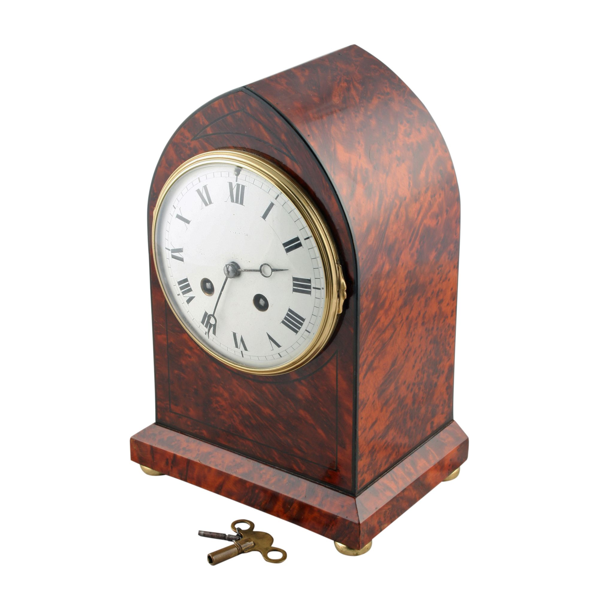 Amboyna Wood Mantel Clock
