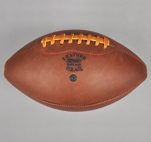 leather head football hubby is going to love opening on xmas products pinterest vintage football
