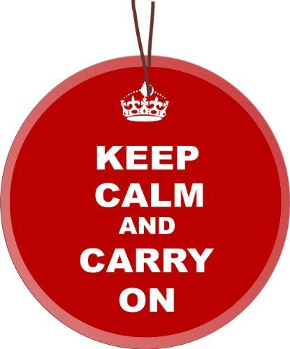 $39.95-$31.14 Rikki Knight® Keep Calm and Carry On Red Design Glass Round Christmas Tree Ornament Suncatcher - Affordable Gift for your Loved One! Item #RK-GLORN-49... - This Keep Calm and Carry On Red Glass Ornament Suncatcher is Beautiful for Holiday decorating or as small Suncatchers for year round use. It is flat and measures 3.5in x 1/8in thick has a beveled front and Hole for hanging. Thes ...