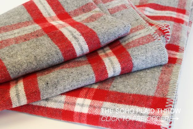 The Faribault Soho Plaid Throw, available for pre order on their website. The Faribault Woolen Mill Company In Faribault Minnesota is in the process of reopening. The original company began business in 1865.