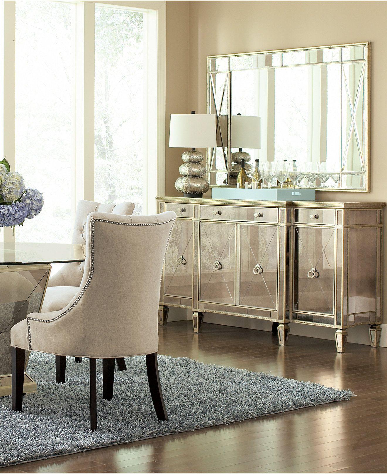 marais mirrored credenza sideboard furniture mirrored