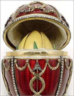 The Rosebud Egg - this was the last egg give to the Tsarina Maria Feodorovna