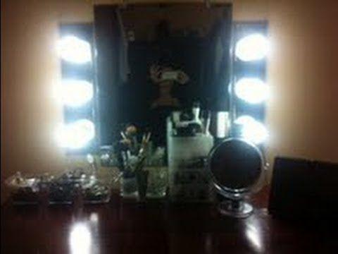 Diy How To Make A Vanity Mirror And Lights Diy Vanity