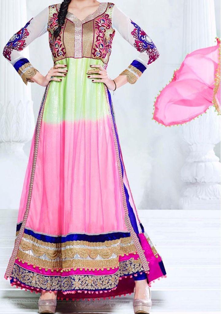 Shilpa Shetty  Designer Long Style Anarkali Suit