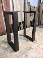 Superior 28 INCH TALL STEEL TABLE LEG SET! Sofa Or Accent Table Legs! Flat Black