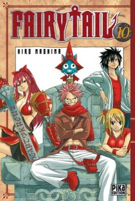 Couverture Fairy Tail Tome 10 Fairy Tail Queue De Fee