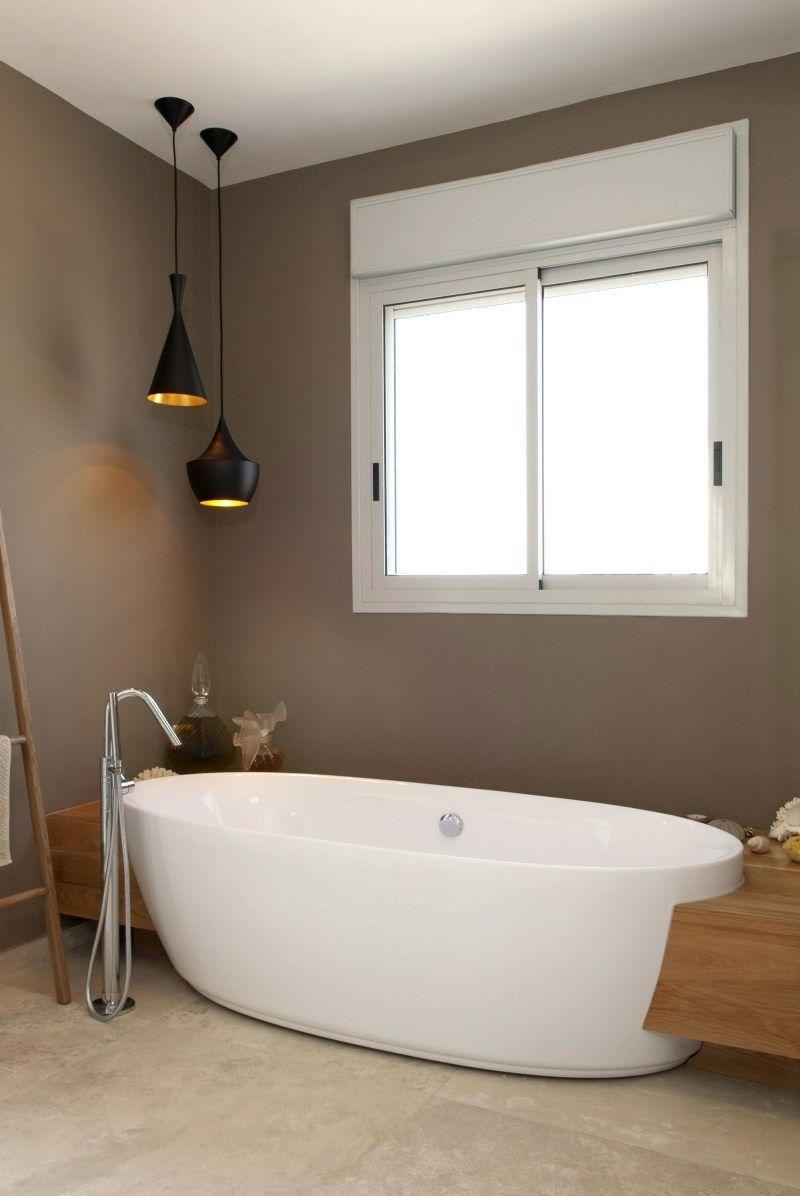 Die Elegante Farbe Taupe Wandverkleidung Zenideen Badezimmer Farben Modernes Badezimmer Badezimmer