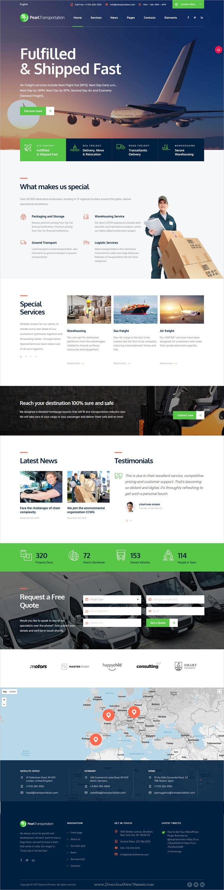 Pearl WP is clean and modern design multiple responsive WordPress