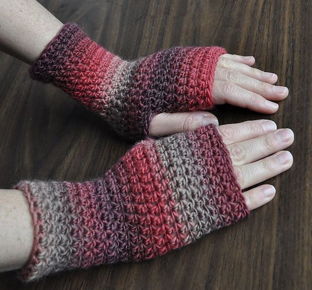 Ravelry Everyday Fingerless Gloves Free Pattern By Cathy Campbell