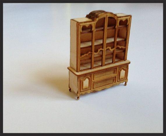KIT- Dollhouse Miniature China Cabinet KIT quarter scale 1/4 by ...