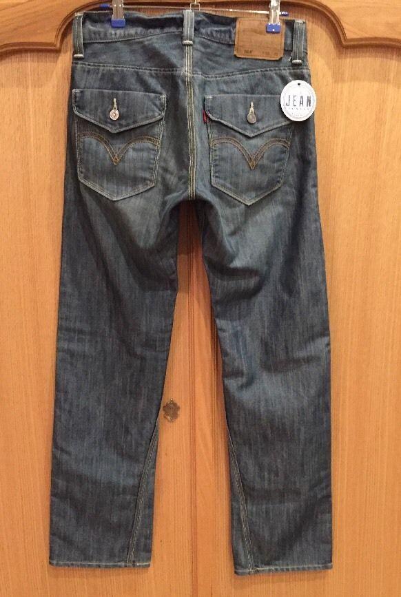 4089c9ab Levi's 514 Slim Straight Red Tab 30x32 Flap Pocket Twisted Seam Unique EUC… Men's  Denim