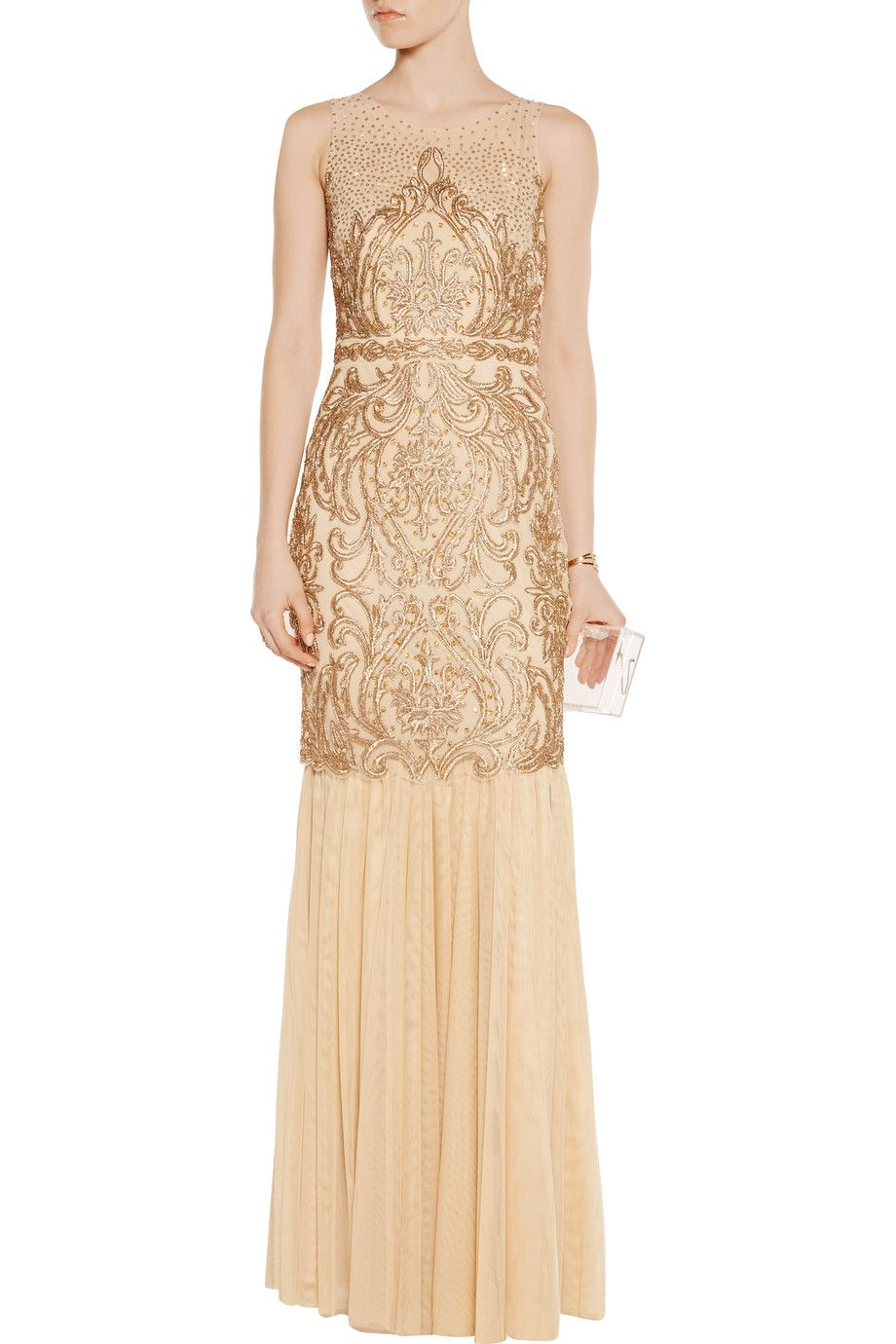 Embellished tulle gown   Badgley Mischka   US   THE OUTNET   W L A B ...
