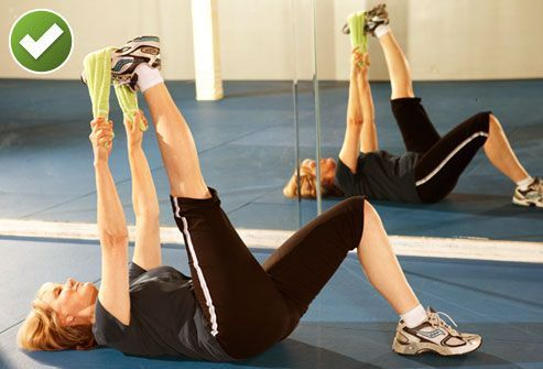 hamstring stretches lie on your back and bend one knee