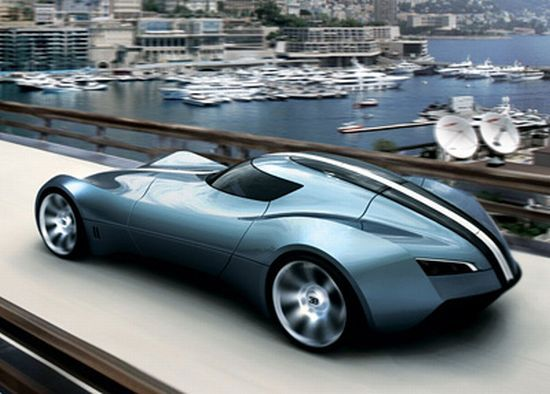 bugatti aerolithe opens the doors upwards to lift the dashboard