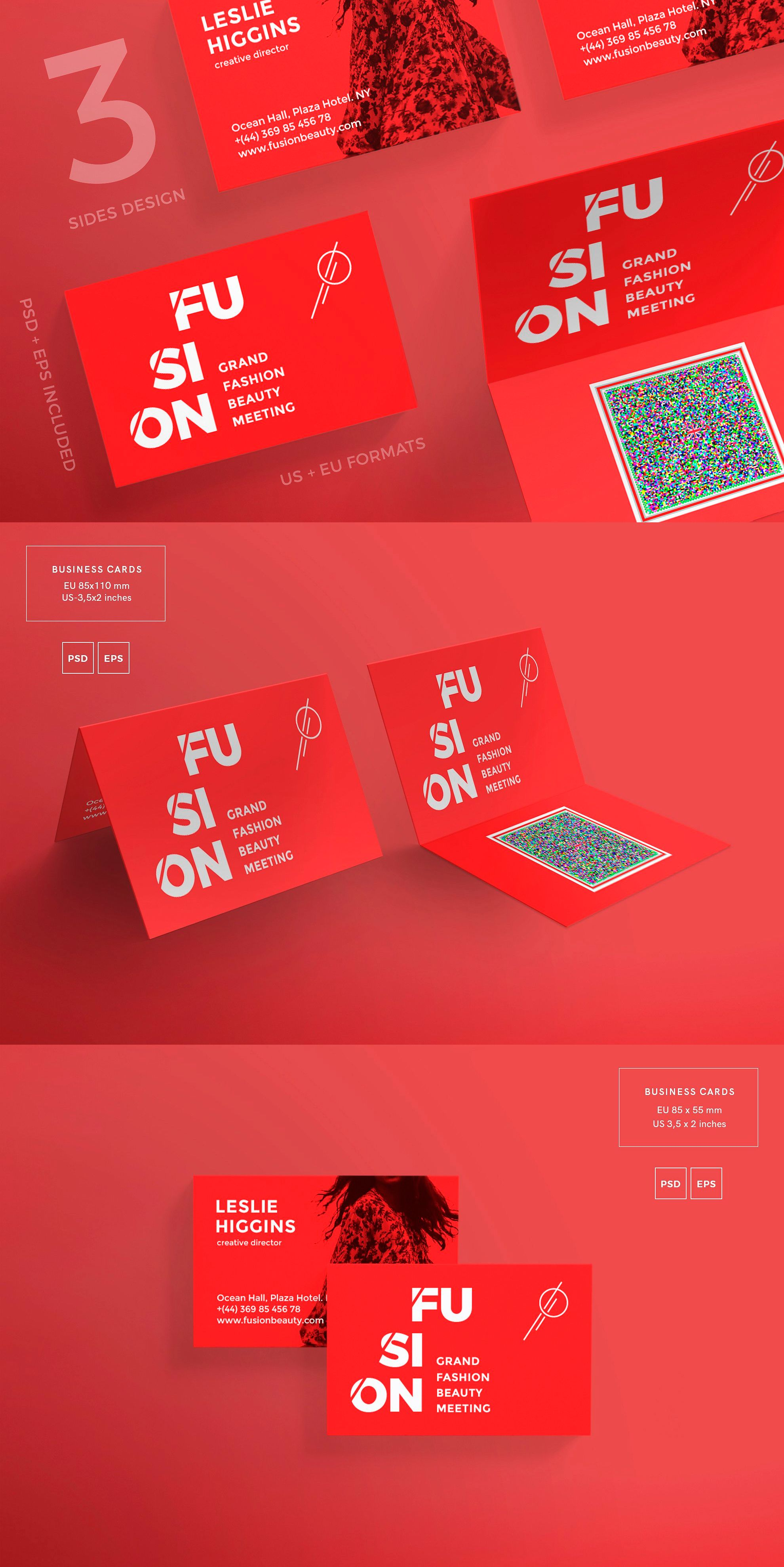 Business Cards Fusion Card Templates Business Cards And Template